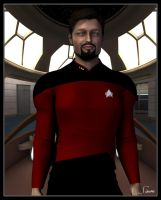 Commander William Riker by celticarchie