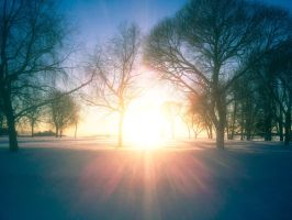Winter's own lens flare by JussiKarro