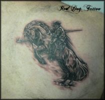 Andy's horse Tattoo by Reddogtattoo