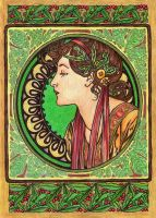 Mucha's Laurel by AnnaSulikowska