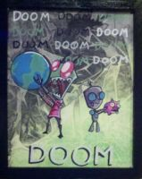 Invader Zim and Gir Doom by paintmeaperfectworld