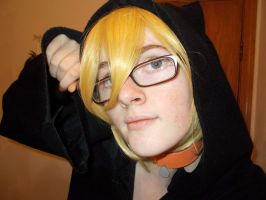 len kagamine: _black cats of halloween_ by theporcelainnitemare