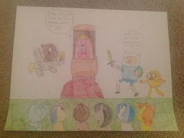 Finn and Jake save PB from Angry Ponies by hmcvirgo92