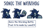 Werehog Battle Pixel Art 2 by LeaoZX