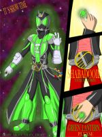 kamen rider wizard green lantern by WarriorIkki-toac50