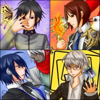 Persona - Protagonists by Hideyo