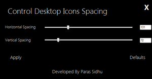 Desktop Icons Spacing Controller by parassidhu