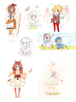 Traditional Commission Examples by Imouto-Thi