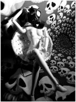 in her gas mask two by decima