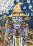 Black Cat Witch (ACEO) by Keyshe54