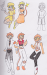 Tomodachi Life kids and Parents by Paper-Pikachu