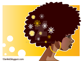 Afro Flowers by MokMonster