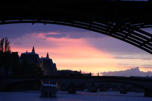 Sunset on the Seine by 914four