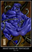 Beast Raped by Tentacles by HellboySoto