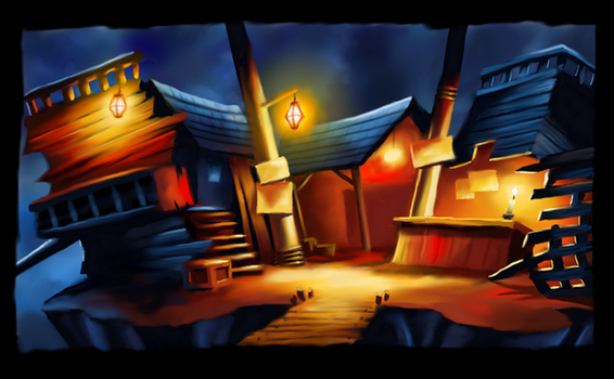 Color and Light Study  - Monkey Island scenery by RDA2016