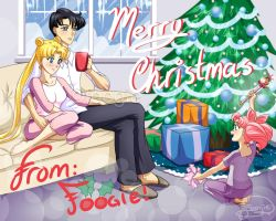 Usagi, Mamoru and Chibiusa - Merry Christmas! by foogie