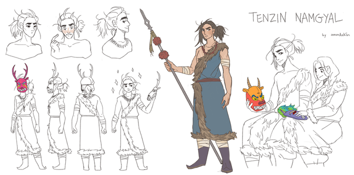 Character Design - Tenzin Namgyal (3rd Place) by ammdakin