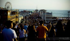 santa monica pier crowded by massivefocus