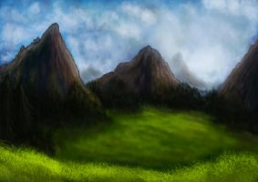 Speedpaint Tryout: Landscape 1 by A-Pancake