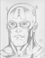 Captain America - final sketch by Justin1592