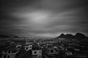 Guilin Long Exposure BW by AzureSnow