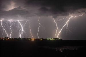 November lightning storm by johnyswank