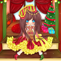 Chibi Commission : Pippet IMVU [ X-mas Doll ] by KikoChi