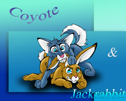 Coyote and Jackrabbit by Phoenix-Cry