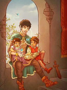 Merlin and the Little Pendragons by whimsycatcher