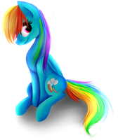 Rainbow Dash-speedpaint by N0M1