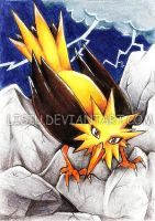 1LPE ACEO: Zapdos by Lisiu