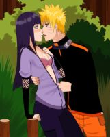 Commission : Naruto x Hinata by MoonPrincessAya