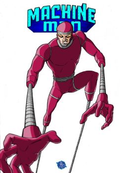 Machine Man created by Jack The King Kirby by christiangmarra
