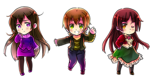 Chibi Trio by ROSEL-D
