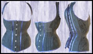 High-Back Underbust Corset by PestilentialCreature