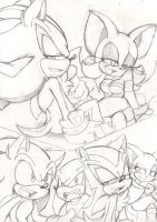 Team Dark: Team Sonic. Lets make a deal by Narcotize-Nagini