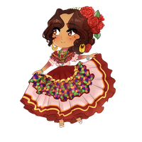 APH Mexico | Regional Dress / Sinaloa by NerdyJones