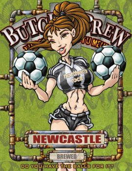Butch Brew Label 1 Newcastle by PinupsByGib