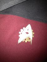 Close up of Steampunk Star Trek badge. by TreeVor