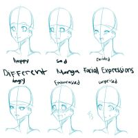 Different Manga Facial Expressions by DolceGelato