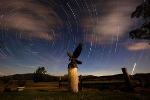 Eagle star trails by georgegowan