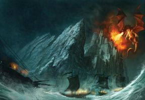 fortress draconis by MarcSimonetti