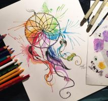 31- Color Wheel Dreamcatcher by Lucky978