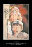 Sketch Card-Indiana Jones 17 by TrevorGrove