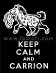 Keep Calm and Carrion - Hyena by Foxfeather248