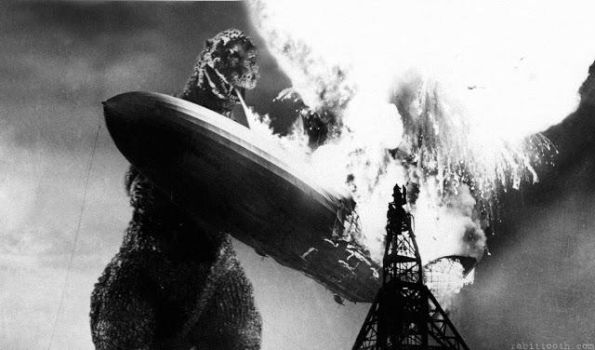 Godzilla Vs Hindenburg by ultimategodzilla