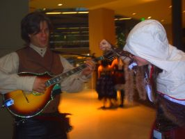 About to punch a Bard at Steamcon by pentharis