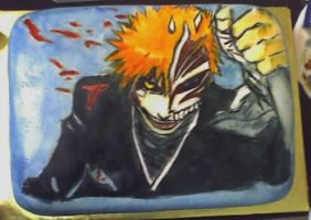Bleach Ichigo Hollow Mask Cake by iwakuralain16