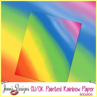 Painted Rainbow Paper by MzJennifer