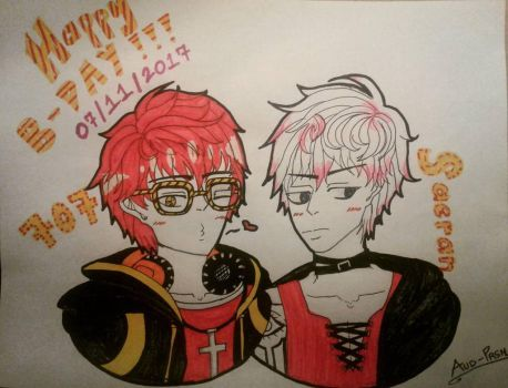 707 and Saeran's Birthday! by Aud-Prsn